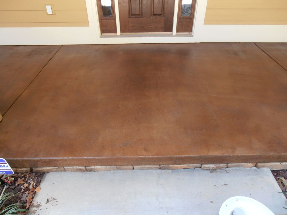 Stained concrete ideas for exterior patios porches for How to clean outdoor stained concrete