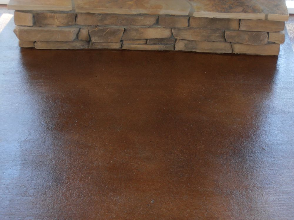 Stained concrete for exterior porches patios for How to clean outdoor stained concrete