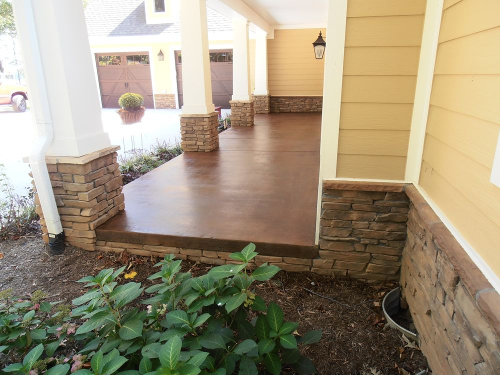 Stamped Concrete Screened Porches : Porches and patios amazing pools
