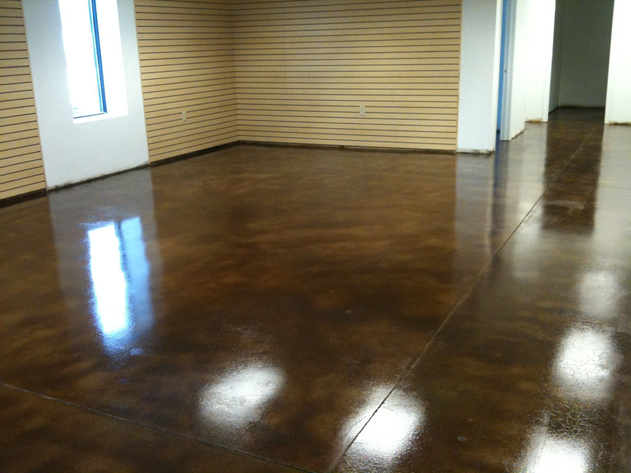 How its done decorative concrete of virginia va for How do you clean stained concrete floors