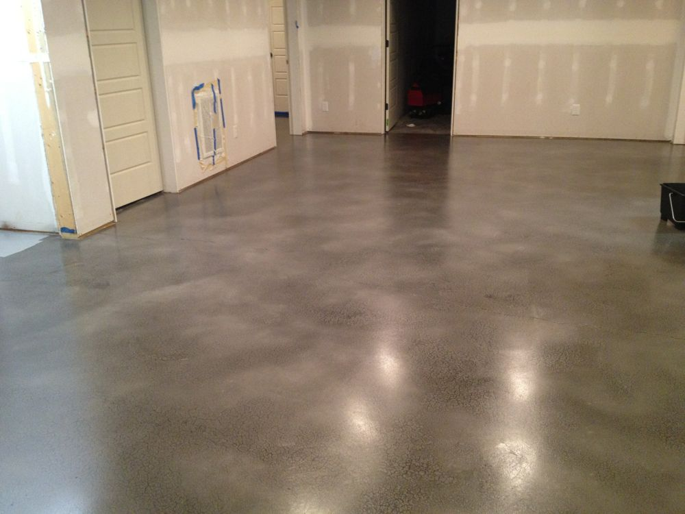Stained concrete virginia acid stain virginia concrete for How to care for stained concrete floors