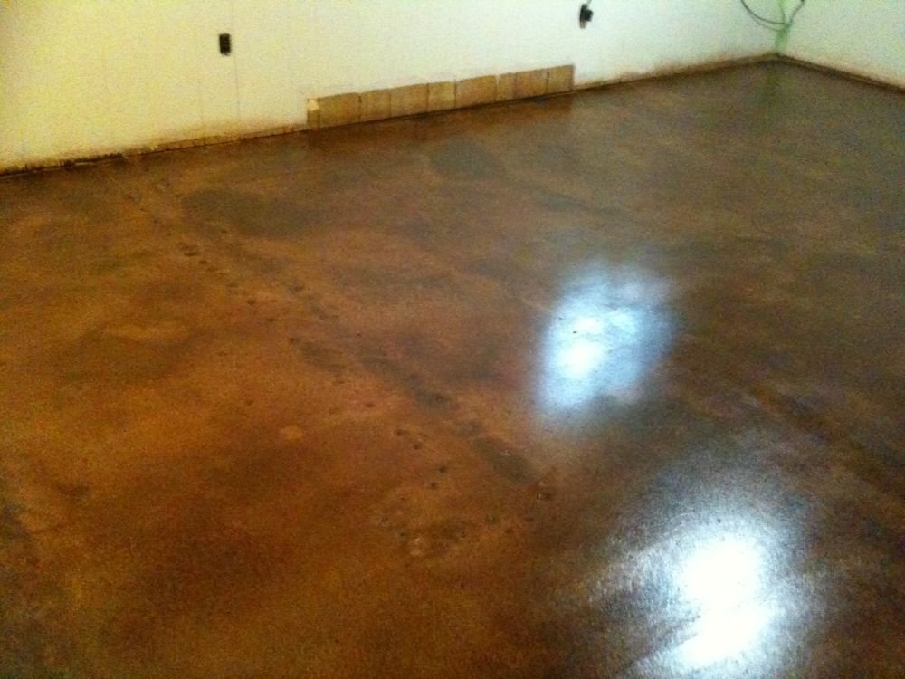 Interior concrete floor ideas decorative concrete of for Stained concrete floors