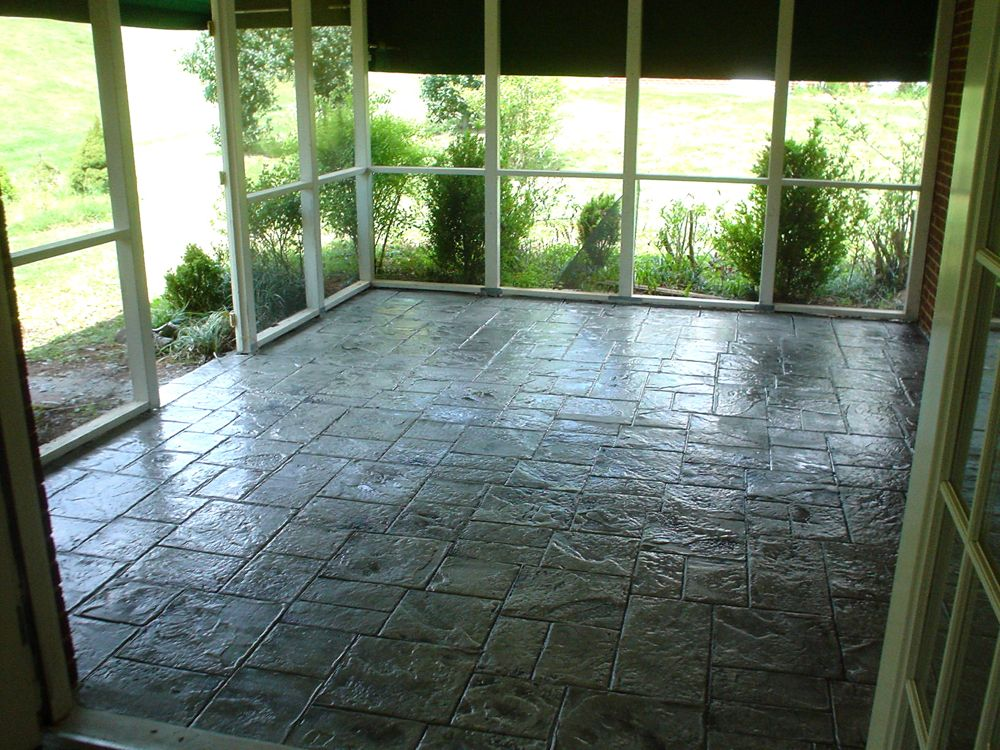 Concrete Overlay Flooring : Interior concrete ideas basement floors garage