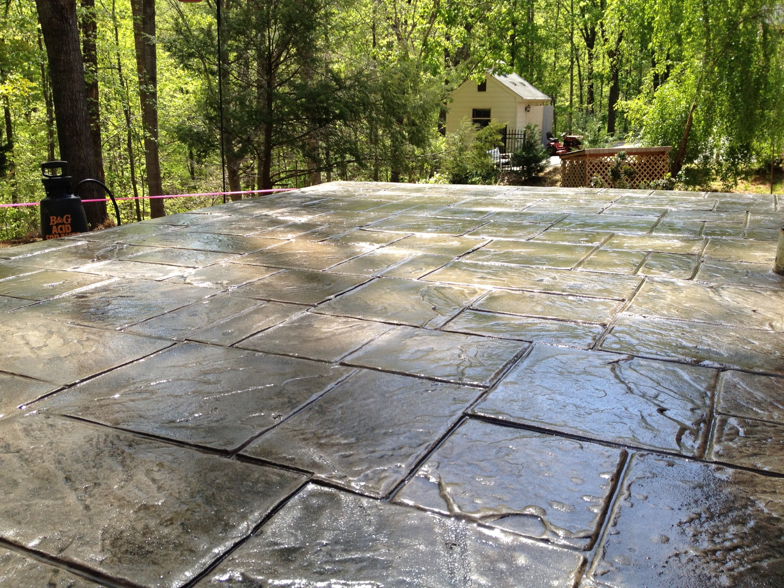 Stamped Concrete Panels : Stamped concrete overlay restoration
