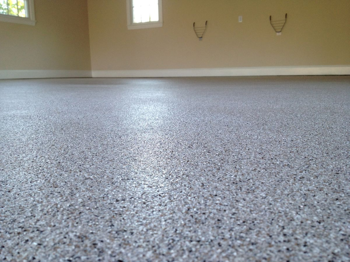 Vinyl chip epoxy floor epoxy garage floor epoxy coating for Garge floor