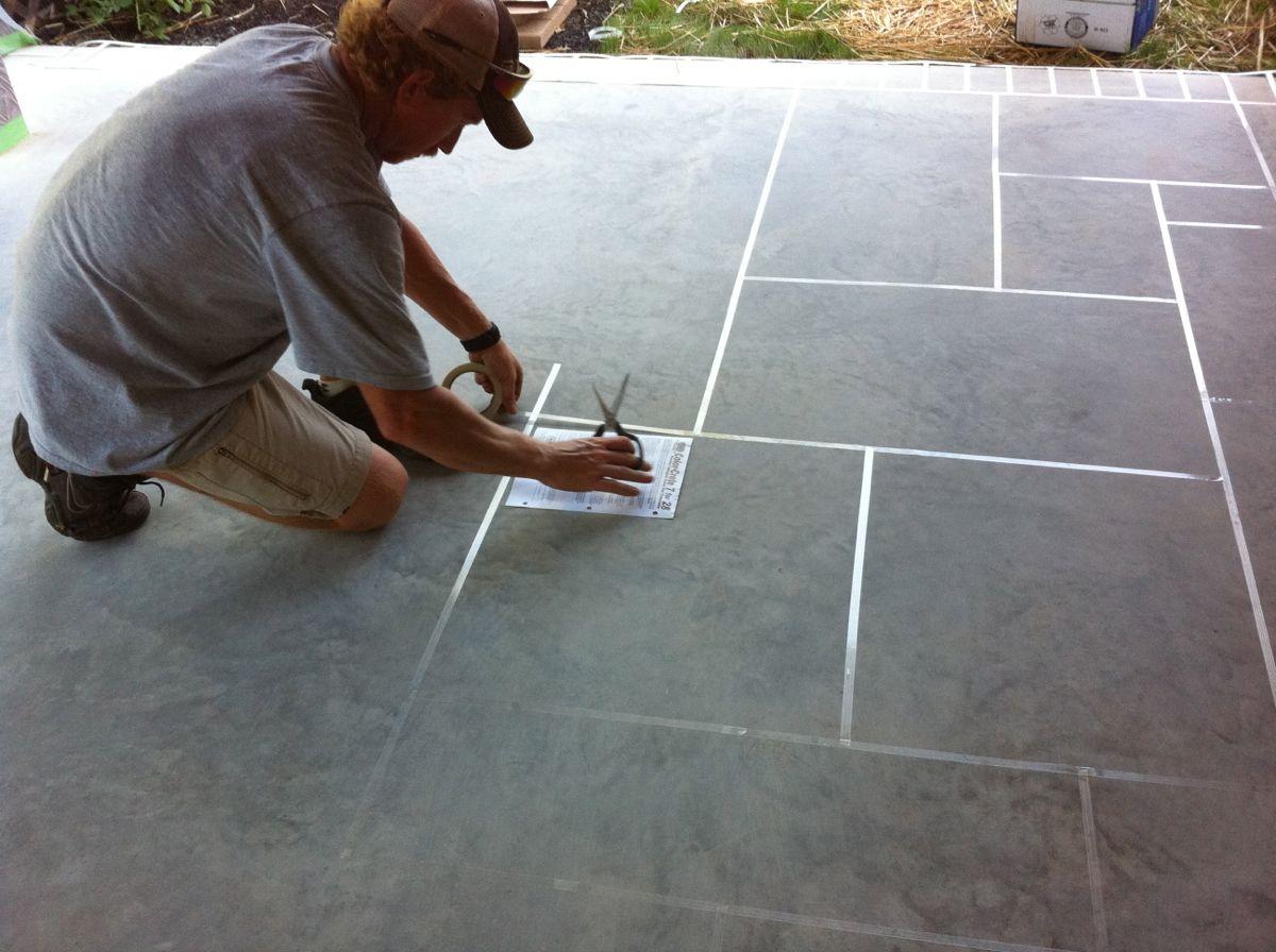 Decorative Concrete Overlay Concrete Restoration Custom Slate Patterns On Large Patios