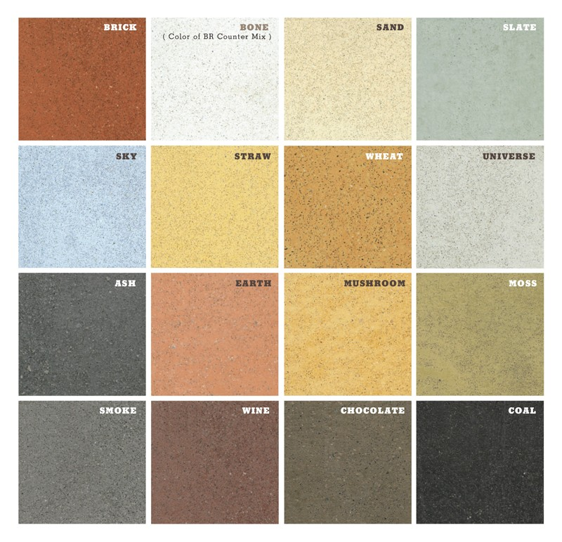 Concrete Countertop Color Chart | Decorative Concrete of Virginia (VA)