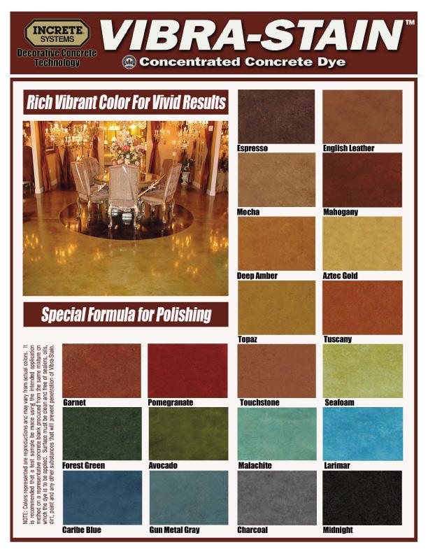 Polished Concrete Color Chart Decorative Concrete Of Virginia Va