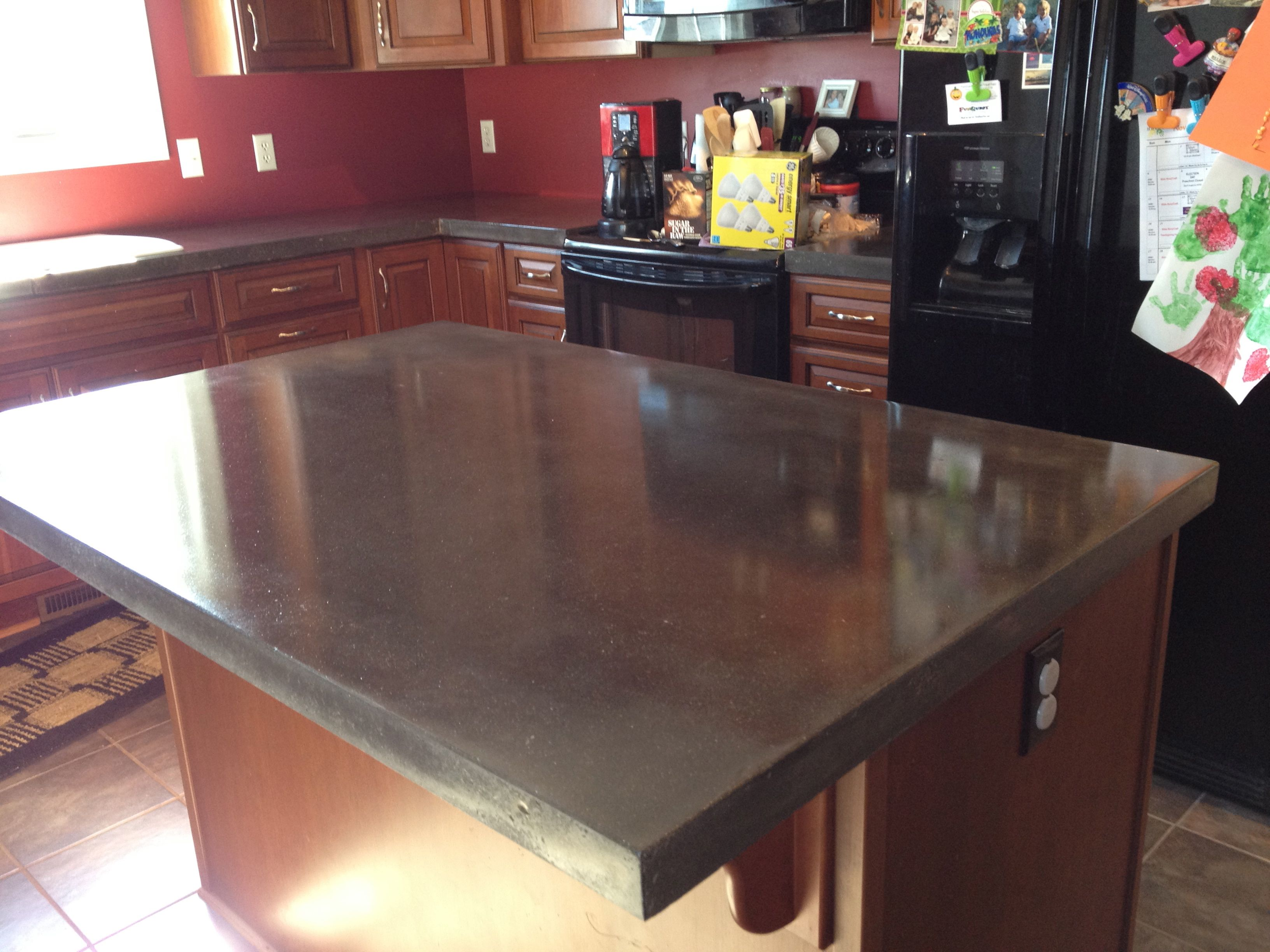 Polished concrete countertops decorative concrete of for How much does it cost to have a foundation poured