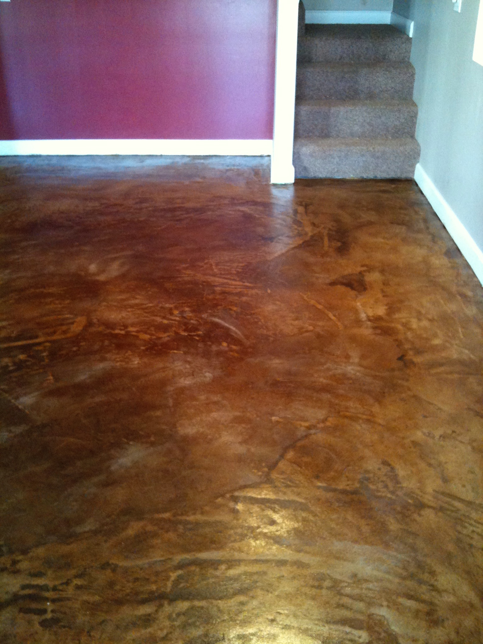 Concrete Overlay Flooring : Concrete overlays over wooden sub floors tile or other