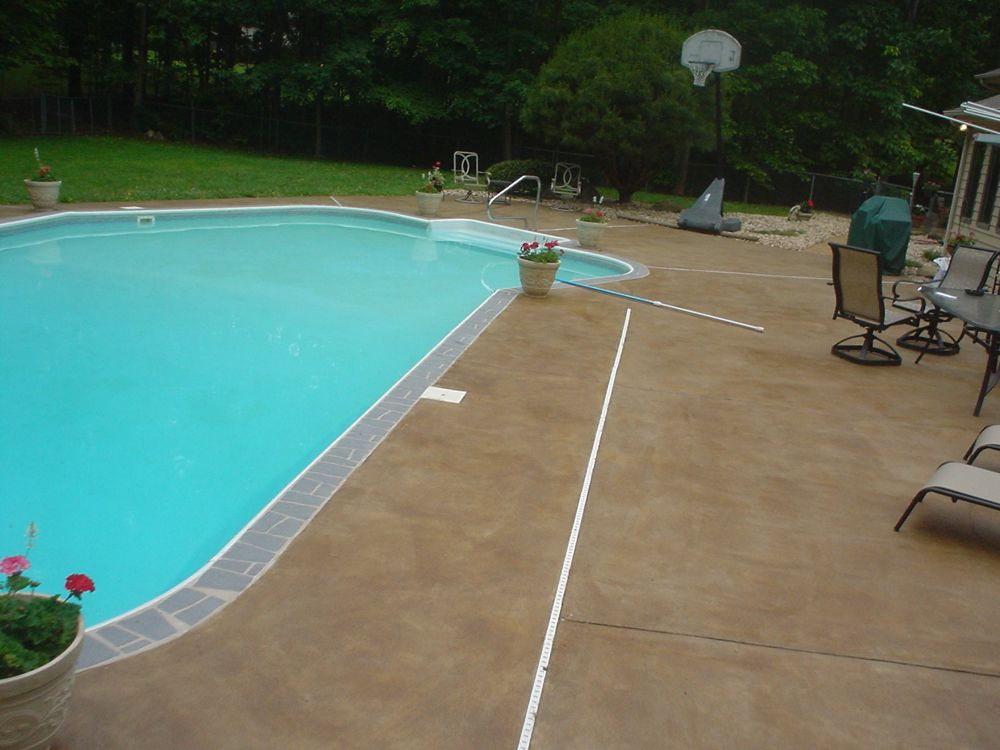 Swimming Pool Cement : Stained concrete virginia acid stain