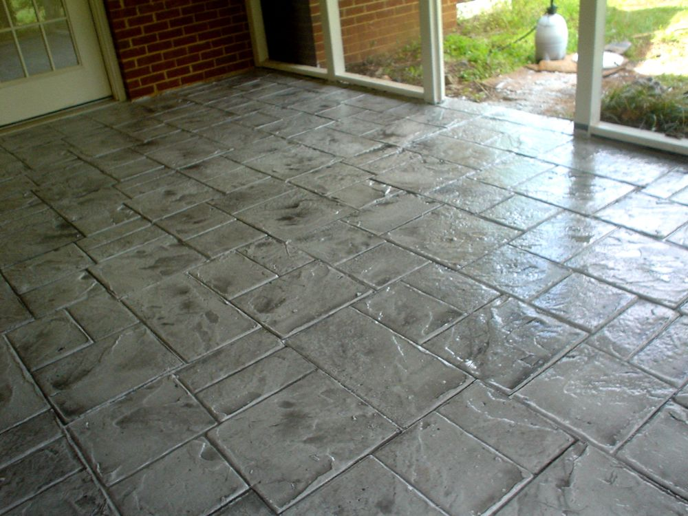 Stamped concrete overlay concrete restoration for Decorative flooring ideas