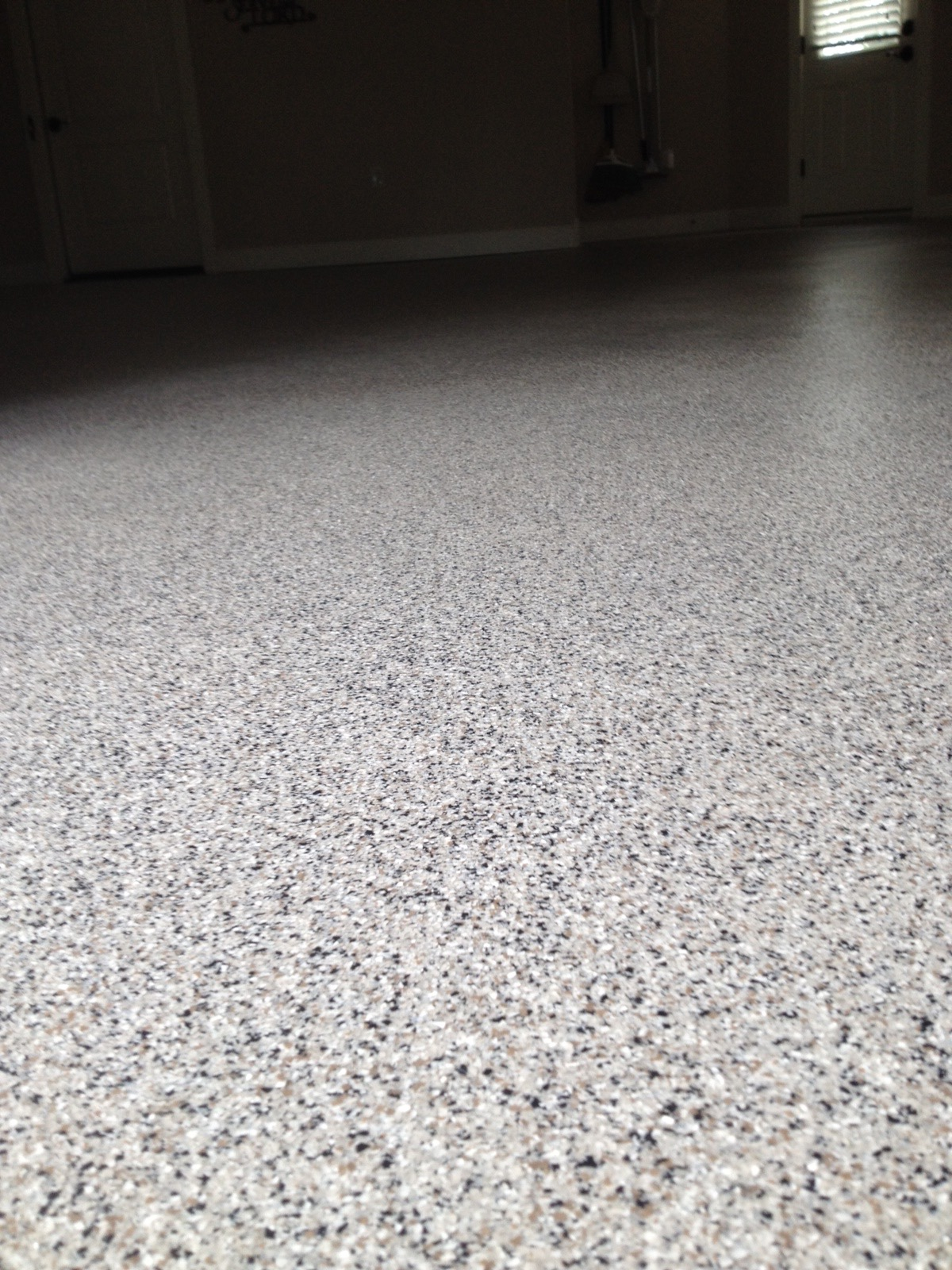Vinyl Chip Epoxy Photos Decorative Concrete Of