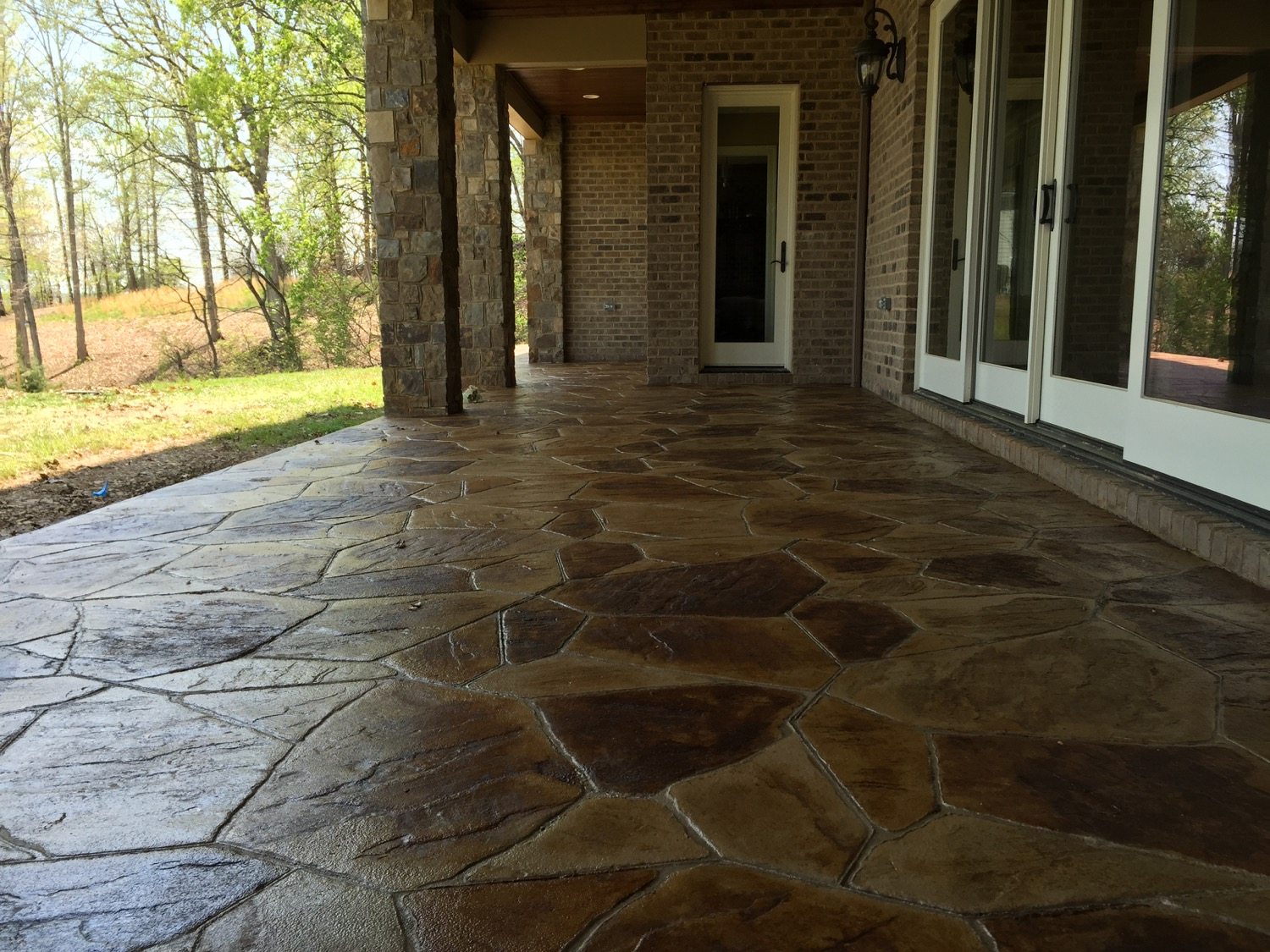 Stamped Concrete Interior Walls